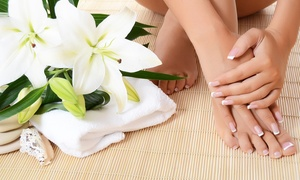 Nails Magic Salon: Manicure and Pedicure with Choice of Massage, Organic Facial, and Blow-Dry at Nails Magic Salon (Up to 56% Off)