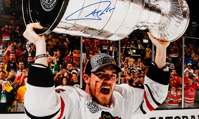 Sideline Marketing & Sports Memorabilia - Stratford Square Mall/Elite Sports Memorabilia: Entry and Signed Print from Blackhawk Andrew Shaw from Sideline Marketing & Sports Memorabilia(Up to 42% Off)