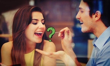 $35 for a Romantic Dinner for Two at a Mystery Location Near Theater District (Up to $79 Total Value)