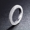 0.81 CTTW Cubic Zirconia Eternity Band in 18K White Gold Plating