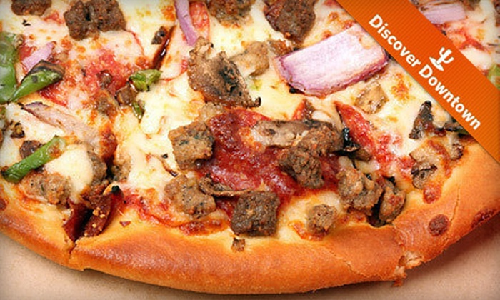 Empire Pizza and Pub - El Presidio: Pizza for Carry-Out or Delivery from Empire Pizza and Pub (Up to 55% Off). Three Options Available.