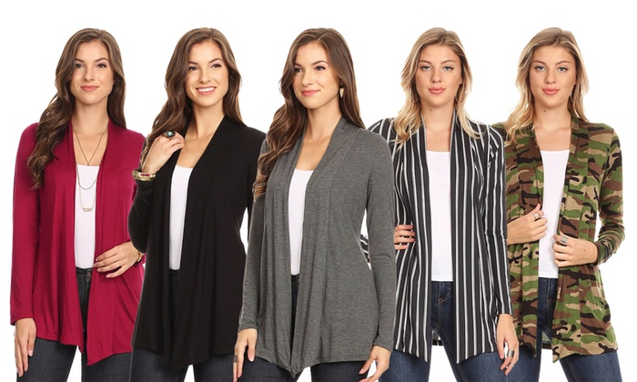 13a2954f371 Nelly Women s Long-Sleeved Cardigan. Plus Sizes Available.