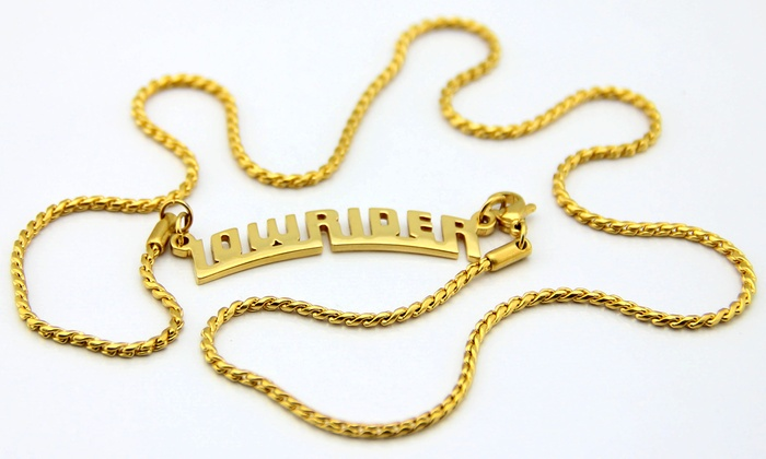 Lowrider Collection - Tarzana: Gold-Plated Key Chain and Necklace or $20 for $40 Worth of Street-Wear Jewelry at Lowrider Collection