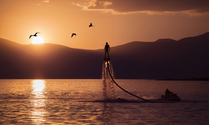 Mountain Wake - Macedonia: 30-Minute Flyboarding Session for One or Two at Mountain Wake  (Up to 47% Off)