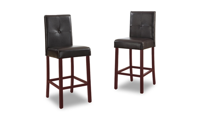 2 Faux Leather Counter Stools Groupon Goods