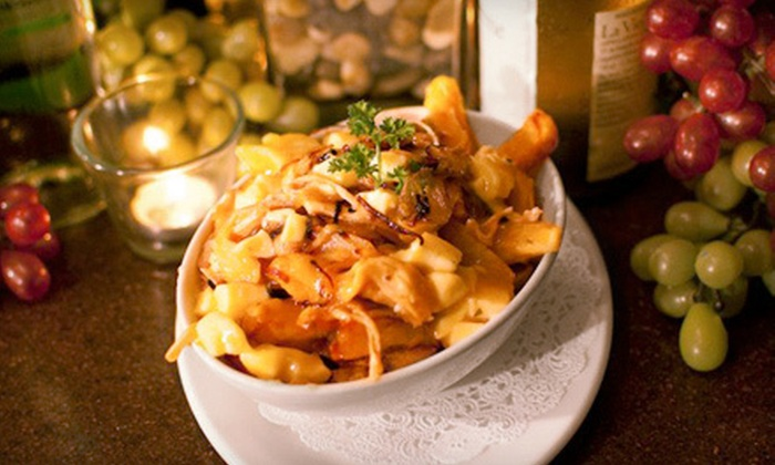 Vineyards Wine Bar & Bistro - Byward Market - Parliament Hill: Smoked Chicken Poutine for Two or Four at Vineyards Wine Bar & Bistro (Up to 56% Off)