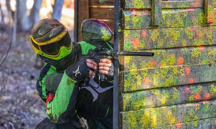 6 or 12 Open-Play Paintball Passes with Safety Gear and Gun from Paintball USA (Up to 86% Off)