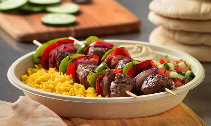 Garbanzo Mediterranean Grill - Multiple Locations: Mediterranean Cuisine or Catering Packages at Garbanzo Mediterranean Grill (Up to 35% Off)