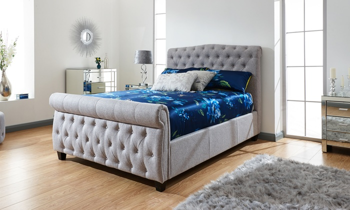 Lille Side Lift Ottoman Bed with Optional Bonnell Mattress