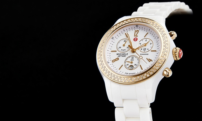 Michele: $1,049.99 for a Michele Women's Diamond-Accented Jetway Watch ($2,095 List Price). Free Shipping.