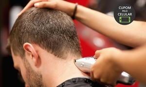 Red Salon Homem - Barra da Tijuca: Red Salon Homem – Barra da Tijuca: corte de cabelo (opção com barba ou hidratação)