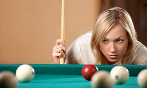Club Med Billiard Parlor: Pool and Pizza at Club Med Billiard Parlor (Up to 50% Off). Two Options Available.