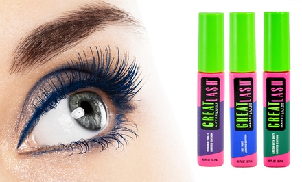 groupon daily deal - 3-Pack of Maybelline Great Lash Color Mascara. Multiple Colors Available.