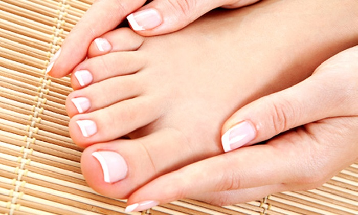 Lacey Keller at Euphoria Day Spa and Hair Design - Gulf Breeze: One or Three Mani-Pedis, or a Full Set of Acrylics with Lacey Keller at Euphoria Day Spa and Hair Design (Up to 59% Off)