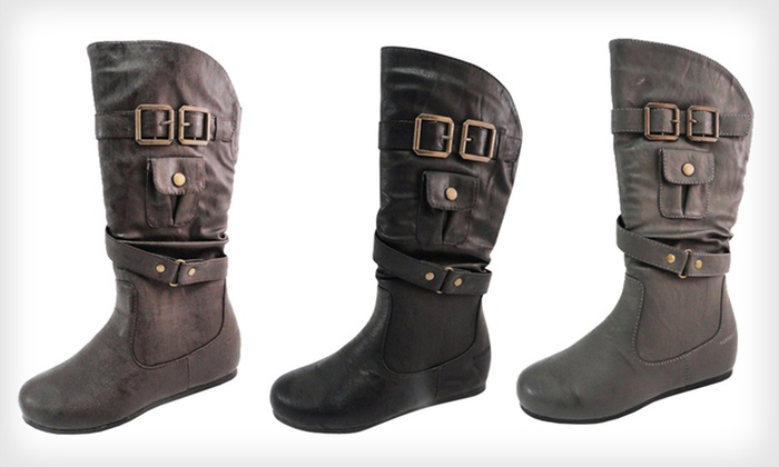 Carrini Children's Faux-Leather Boots: $19 for Carrini Kids' Faux-Leather Boots ($45 List Price). Multiple Options Available. Free Shipping and Free Returns.