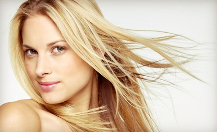 Haircut and Deep Conditioning with Optional Partial or Full Highlights or Lowlights at The Main Salon (Up to 59% Off)