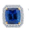 24.90 CTTW Genuine Tanzanite & Diamond Ring in 14K Gold