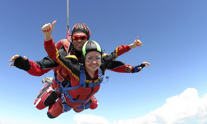 Skydive Big Sky - Innisfail: One, Two, or Four Tandem Jumps at Skydive Big Sky (Up to 37% Off)