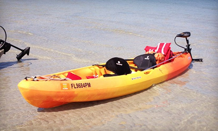 Island Life Charters - Treasure Island: Three-Hour Motorized Single- or Tandem-Kayak Rental from Island Life Charters (51% Off)