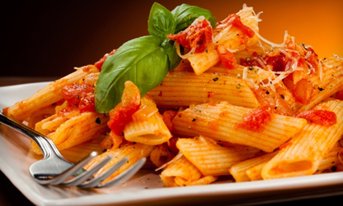 Mr. Pasta - Glenvar Heights: Catered Italian Meal for a Party of 12 or 25 with Pasta, Salad, and Rolls from Mr. Pasta (Up to 52% Off)