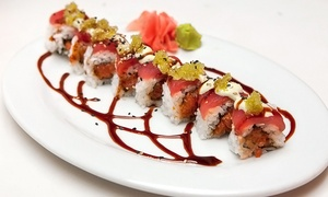 M: Speciality Sushi Rolls and Drinks for Two or Four at M (Up to 65% Off)