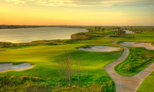 Moody Gardens, Inc: 18-Hole Round of Golf Plus Cart Rental for One, Two, or Four at Moody Gardens (Up to 64% Off)