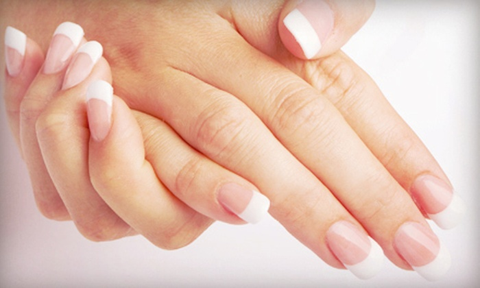 Top Nails Tech - Westgate: Mani-Pedi or Set of Pink-and-White Acrylics with a Gel Topcoat at Top Nails Tech (Half Off)