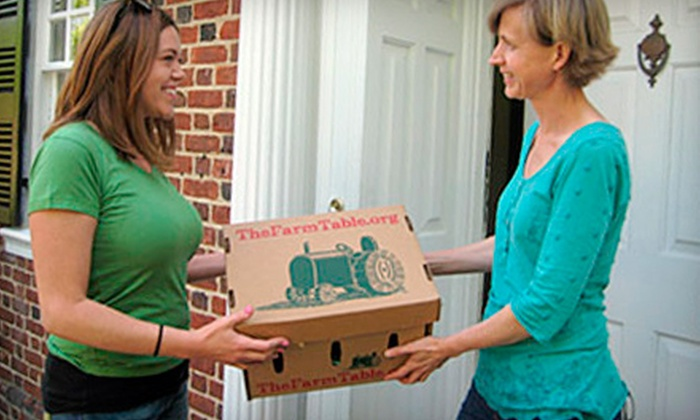The Farm Table - Hampton Roads: Produce Co-op Membership and Deliveries from The Farm Table (51% Off).