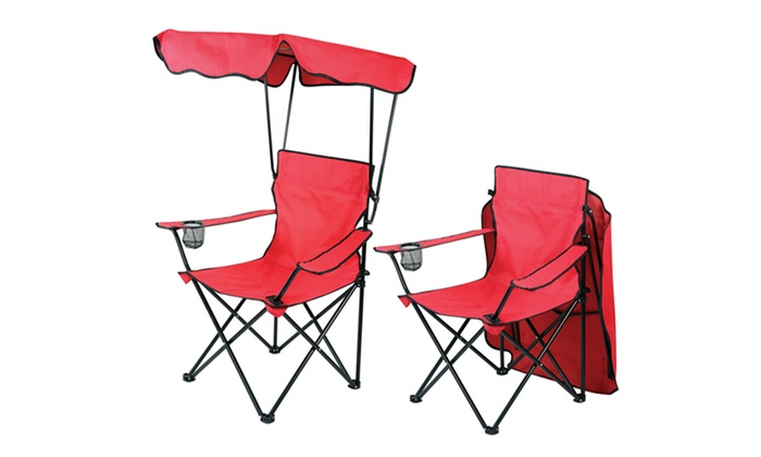 Delicieux Deluxe Folding Chair With Canopy And Carry Case