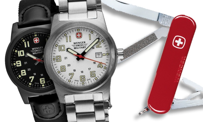 Wenger Swiss Military Watch Gift Set: $84.99 for a Wenger Swiss Military Watch Gift Set (Up to $195 List Price). 6 Styles Available.