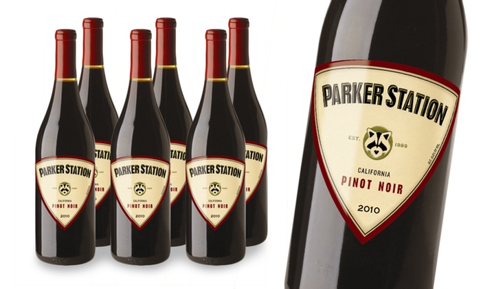 6-Pack of Parker Station 2010 Pinot Noir: 6-Pack of Parker Station 2010 Pinot Noir
