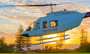 Heli West: 30-Minute Helicopter Adrenaline Flight for One ($299) or Two People ($595) at Heli West, Jandakot (Up to $800 Value)