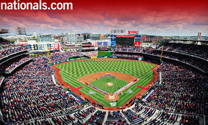 Washington Nationals - Navy Yard: Washington Nationals MLB Game at Nationals Park (Up to Half Off). Four Dates and Three Seating Options Available.