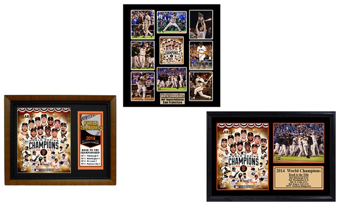 Giants Champs Frames and Plaques | Groupon Goods
