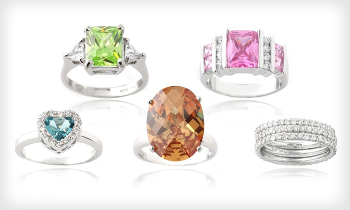 Cubic Zirconia and Quartz Rings: Cubic Zirconia and Quartz Rings (Up to 80% Off). Multiple Styles and Sizes Available. Free Shipping and Free Returns.