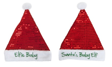 One or Two Babies Christmas Elf Hats