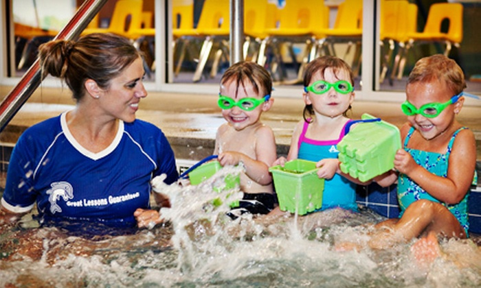 Dolphin Swim Club - Crystal Lake: Four Baby Swim Lessons or Four Semiprivate Swim Lessons Kids Aged 2 and Older at Dolphin Swim Club (Up to 54% Off)