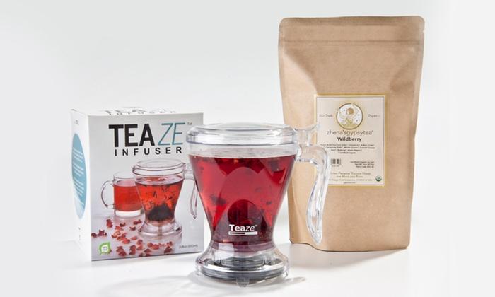 Zhena's Wildberry Hibiscus Tea and Infuser Bundle: Zhena's Wildberry Hibiscus Tea and Infuser Bundle