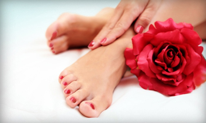 All Hands On Deck Massage & Nail Spa - Kiwanis Park: One or Two Gelish Manicures with Classic Pedicures at All Hands On Deck Massage & Nail Spa (Up to 58% Off)