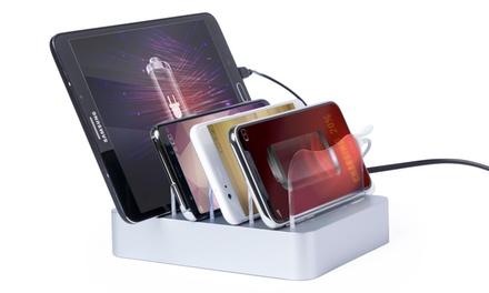 Estación de carga USB para 4 dispositivos móviles