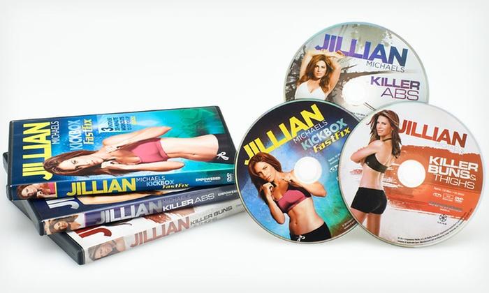 Jillian Michaels Workout DVD Set: $24.99 for a Jillian Michaels Workout DVD Set ($44.94 List Price). Free Shipping.