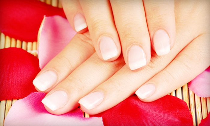 Nail Studio - Carpenter: One or Three Hot-Stone Manicures, One Powder-Gel Manicure, or One Eyebrow and Lip Wax at Nail Studio (Up to 55% Off)