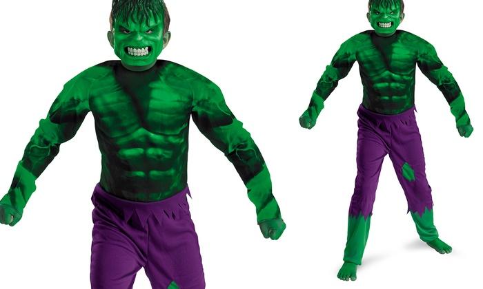 kids the incredible hulk halloween costume