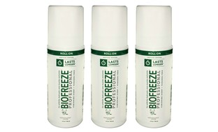 Biofreeze Professional Gel or Roll-On Pain Reliever (3-Pack)