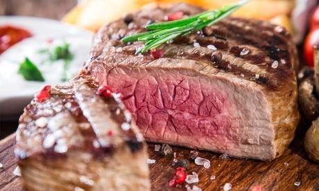 Menú de carne a la brasa con aperitivo, entrantes, principal, guarnición y postre desde 29,95 € en Ses Tres Germanes