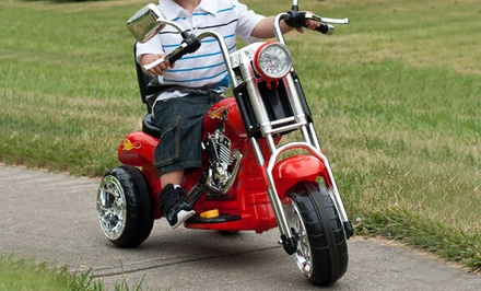 Lil Rider Rocking 3-Wheeled Chopper Motorcycle