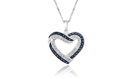 1/2 CTTW Blue & White Diamond Pendant