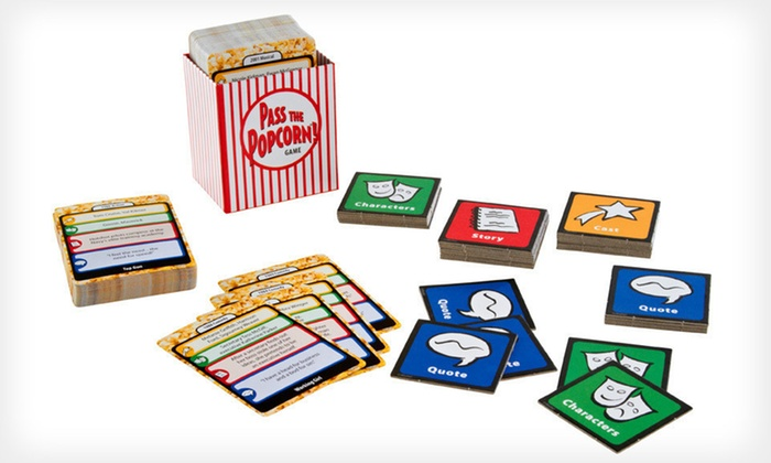 Pass the Popcorn! Movie-Trivia Game: $7 for Pass the Popcorn! Movie-Trivia Game ($19.99 List Price).