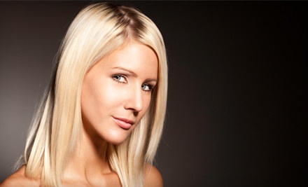 Keratin Treatment or Haircut and Style with Optional Partial or Full Highlights at Salon Serenity Hair Design (Half Off)