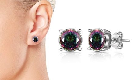 One or Two Pairs of Philip Jones Shimmering Earrings with Crystals from Swarovski®